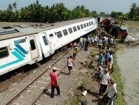 Kereta Kertajaya Salah Jalur