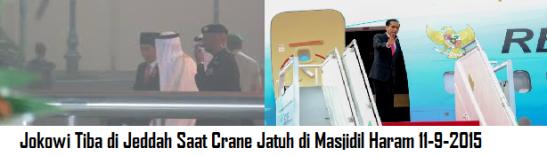 Jokowi Tiba di Jeddah Saat Crane Jatuh di Masjidil Haram