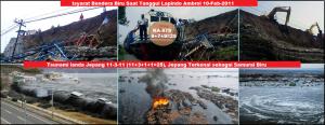 Isyarat Bendera Biru Saat Tanggul Lapindo Ambrol dan tsunami jepang