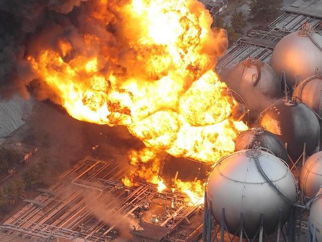 Kilang Jepang Terbakar