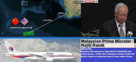 Malaysia PM Announces Flight MH370 CRASHES