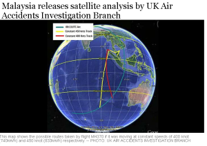 Malaysia releases satellite analysis by UK Air Accidents Investigation Branch
