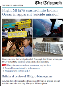 the telegraph MH370
