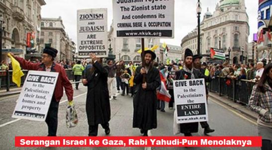 Serangan Israel ke Gaza Rabi Yahudi-Pun Menolaknya