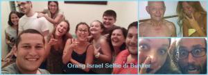 Orang Israel Selfie di Bunker