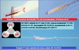Empat Pilot Pesawat Aerobatik TNI AU bertabrakan 15 3 2015
