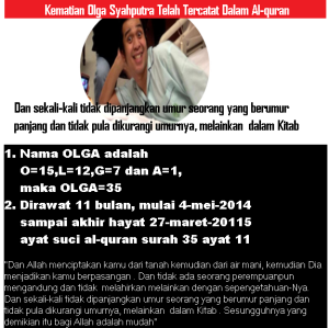 Kematian Olga Syahputra Telah Tercatat Dalam Al-quran