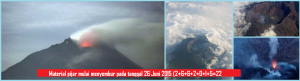 gunung_raung_Material pijar mulai menyembur pada tanggal 26 Juni 2015